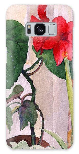 Amaryllis And Begonia Galaxy Case