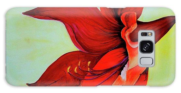 Amaryllis Blossom Galaxy Case