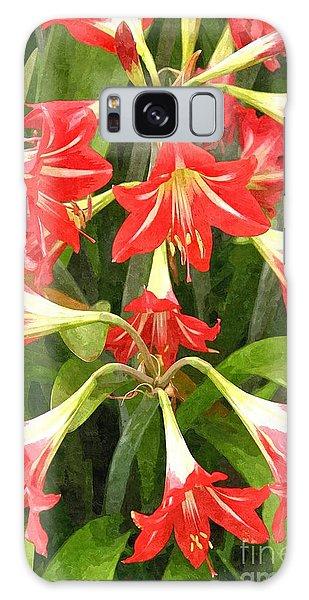 Amaryllis Lily Bunch Galaxy Case