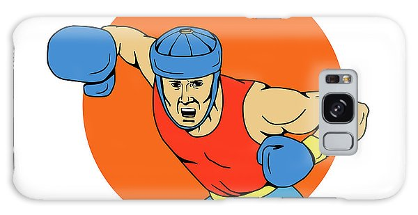 Sportsman Galaxy Case - Amateur Boxer Overhead Punch Circle Drawing by Aloysius Patrimonio