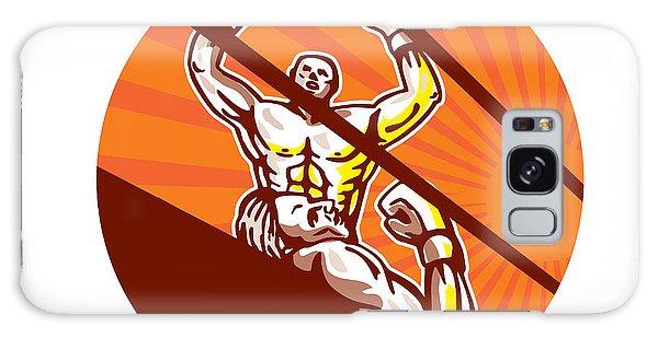 Sportsman Galaxy Case - Amateur Boxer Winning Circle Cartoon by Aloysius Patrimonio