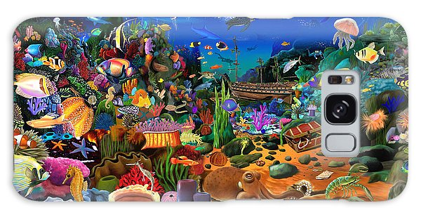 Scuba Diving Galaxy Case - Amazing Coral Reef by MGL Meiklejohn Graphics Licensing