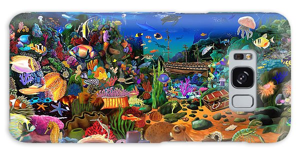 Reef Diving Galaxy Case - Amazing Coral Reef by MGL Meiklejohn Graphics Licensing