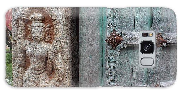 Amazing Door And Column, Fort Kochi Galaxy Case by Jennifer Mazzucco