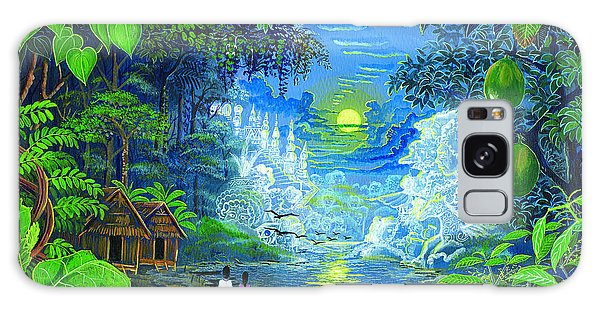 Galaxy Case featuring the painting Amazonica Romantica by Pablo Amaringo