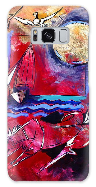 Ameeba 34-horse And Sailboat Galaxy Case