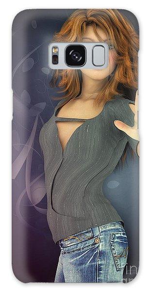 Amelie In Jeans Galaxy Case by Jutta Maria Pusl