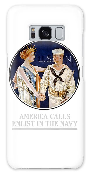 Lady Galaxy Case - America Calls Enlist In The Navy by War Is Hell Store