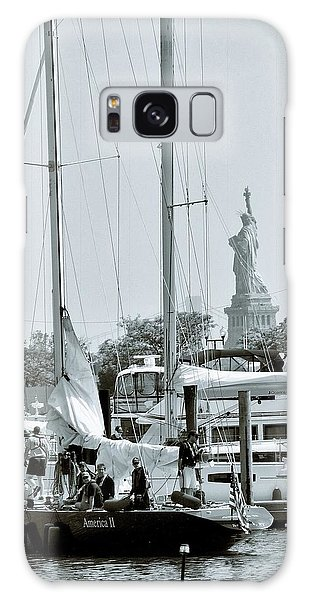 America II And The Statue Of Liberty Galaxy Case by Sandy Taylor