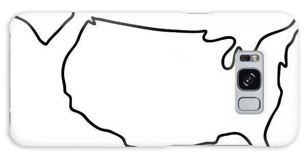 america USA map Galaxy Case