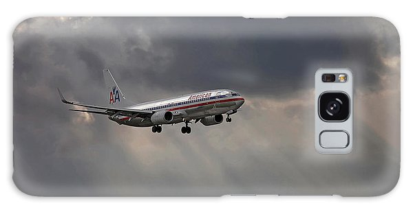 American Aircraft Landing After The Rain. Miami. Fl. Usa Galaxy Case