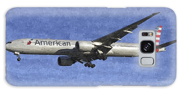 American Airlines Boeing 777 Aircraft Art Galaxy Case