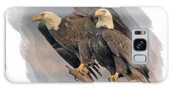 American Bald Eagle Pair Galaxy Case