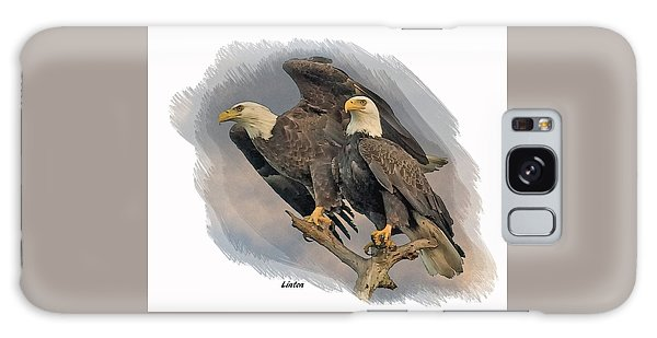 American Bald Eagle Pair Galaxy Case