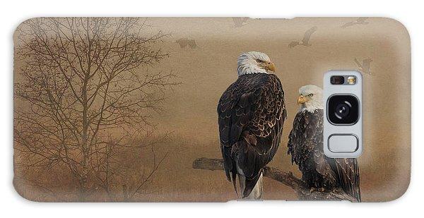 American Bald Eagle Family Galaxy Case