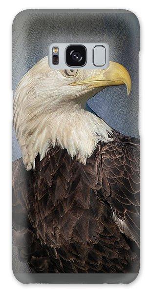American Bald Eagle Portrait Galaxy Case