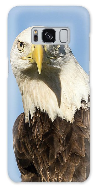 American Bald Eagle Portrait - Winged Ambassador Galaxy Case