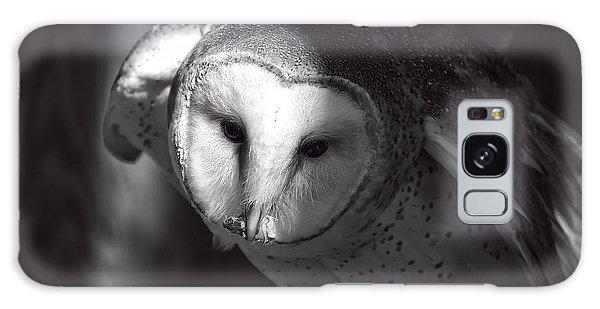 American Barn Owl Monochrome Galaxy Case