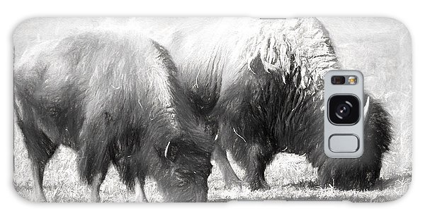 American Bison In Charcoal Galaxy Case