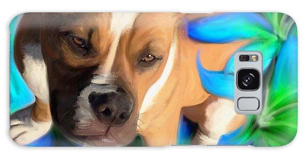 American Bulldog Galaxy Case by Julianne  Ososke