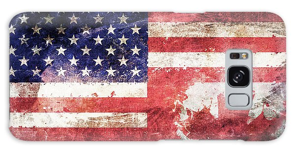 American Canadian Tattered Flag Galaxy Case