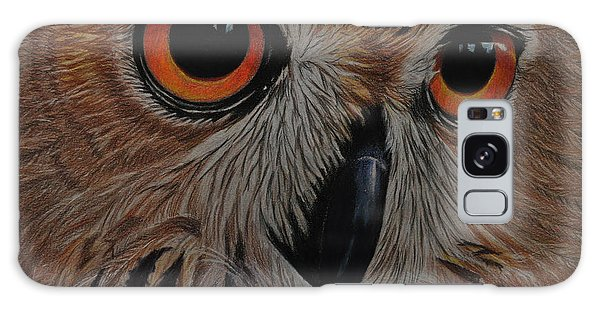 American Eagle Owl Galaxy Case