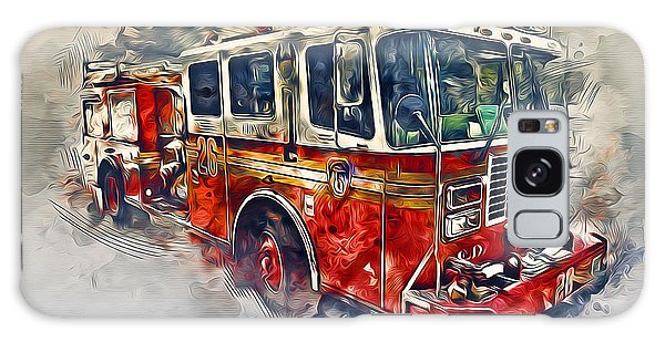 American Fire Truck Galaxy Case