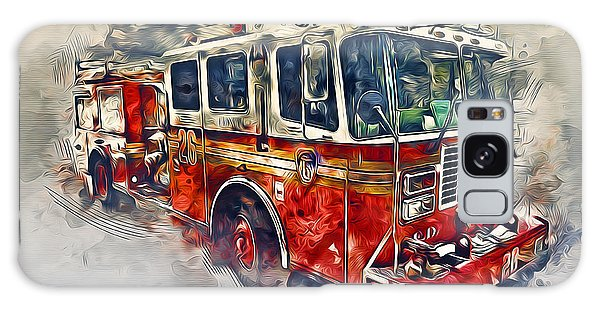 American Fire Truck Galaxy Case