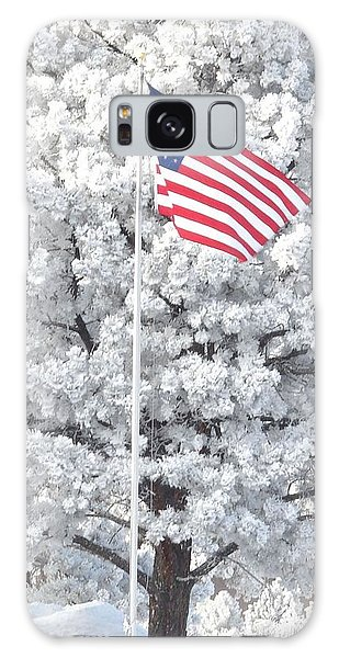 American Flag Snow  Galaxy Case