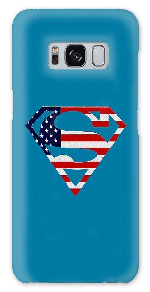 American Flag Superman Shield Galaxy Case