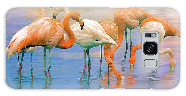 American Flamingos Galaxy Case