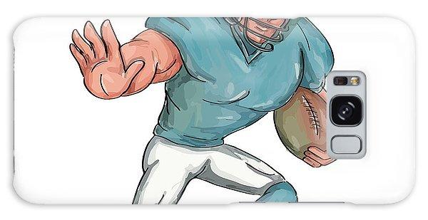 Sportsman Galaxy Case - American Football Player Stiff Arm  Caricature by Aloysius Patrimonio