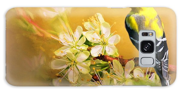 American Goldfinch In The Flowers Galaxy Case