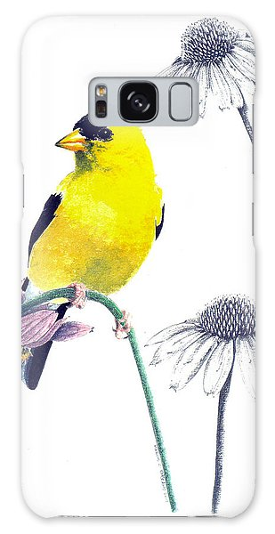 American Goldfinch On Coneflowers Galaxy Case