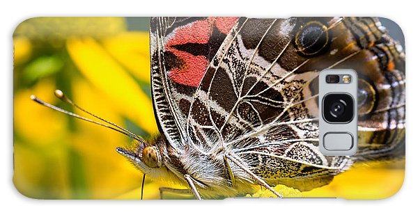 American Lady Butterfly Galaxy Case