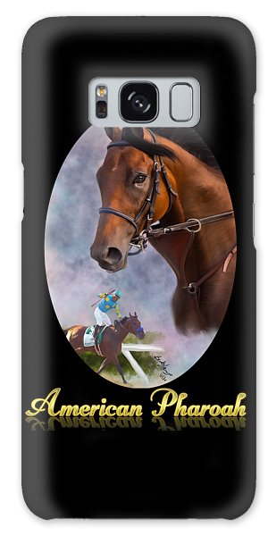 American Pharoah Framed Galaxy Case