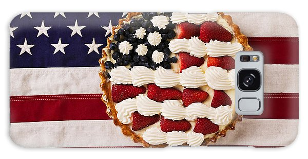 Whip Galaxy Case - American Pie On American Flag  by Garry Gay