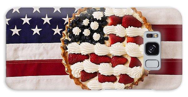Patriotic Galaxy Case - American Pie On American Flag  by Garry Gay