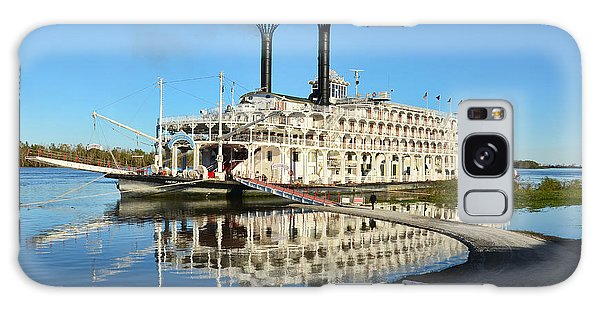 American Queen Steamboat Reflections On The Mississippi River Galaxy Case