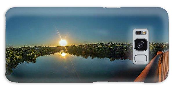 American River At Sunrise - Panorama Galaxy Case