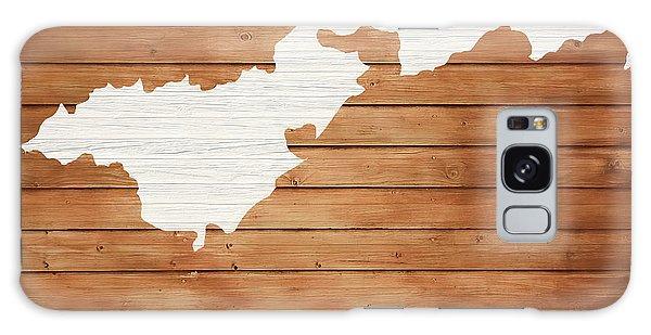 Traveler Galaxy Case - American Samoa Rustic Map On Wood by Dan Sproul
