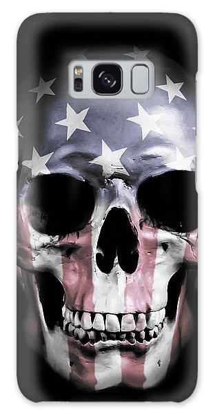 Galaxy Case - American Skull by Nicklas Gustafsson