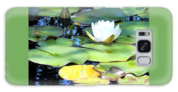 American Water Lilies Four Galaxy Case by J Jaiam