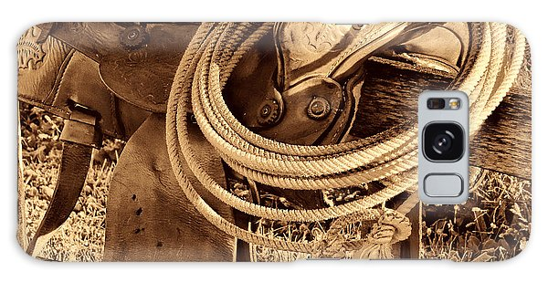 American West Legend Rodeo Western Lasso On Saddle Galaxy Case by American West Legend By Olivier Le Queinec