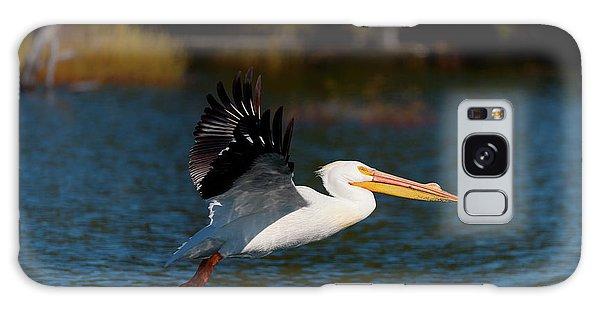 American White Pelican Galaxy Case