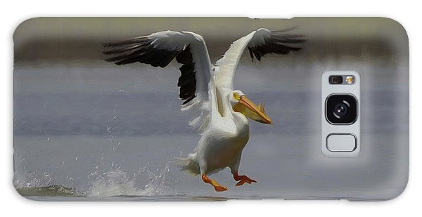 American White Pelican Da 3 Galaxy Case by Ernie Echols