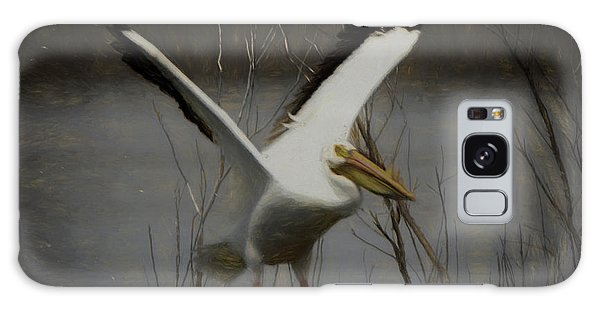 American White Pelican Da Square Galaxy Case by Ernie Echols