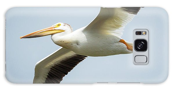 Galaxy Case featuring the photograph  American White Pelican Flyby  by Ricky L Jones