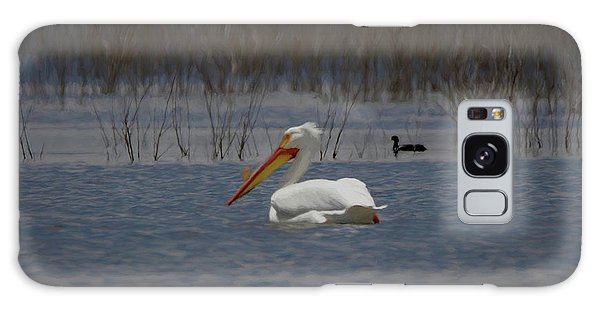 American White Pelican Searching Da Galaxy Case by Ernie Echols