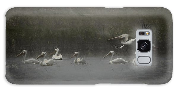 American White Pelicans Da Galaxy Case by Ernie Echols